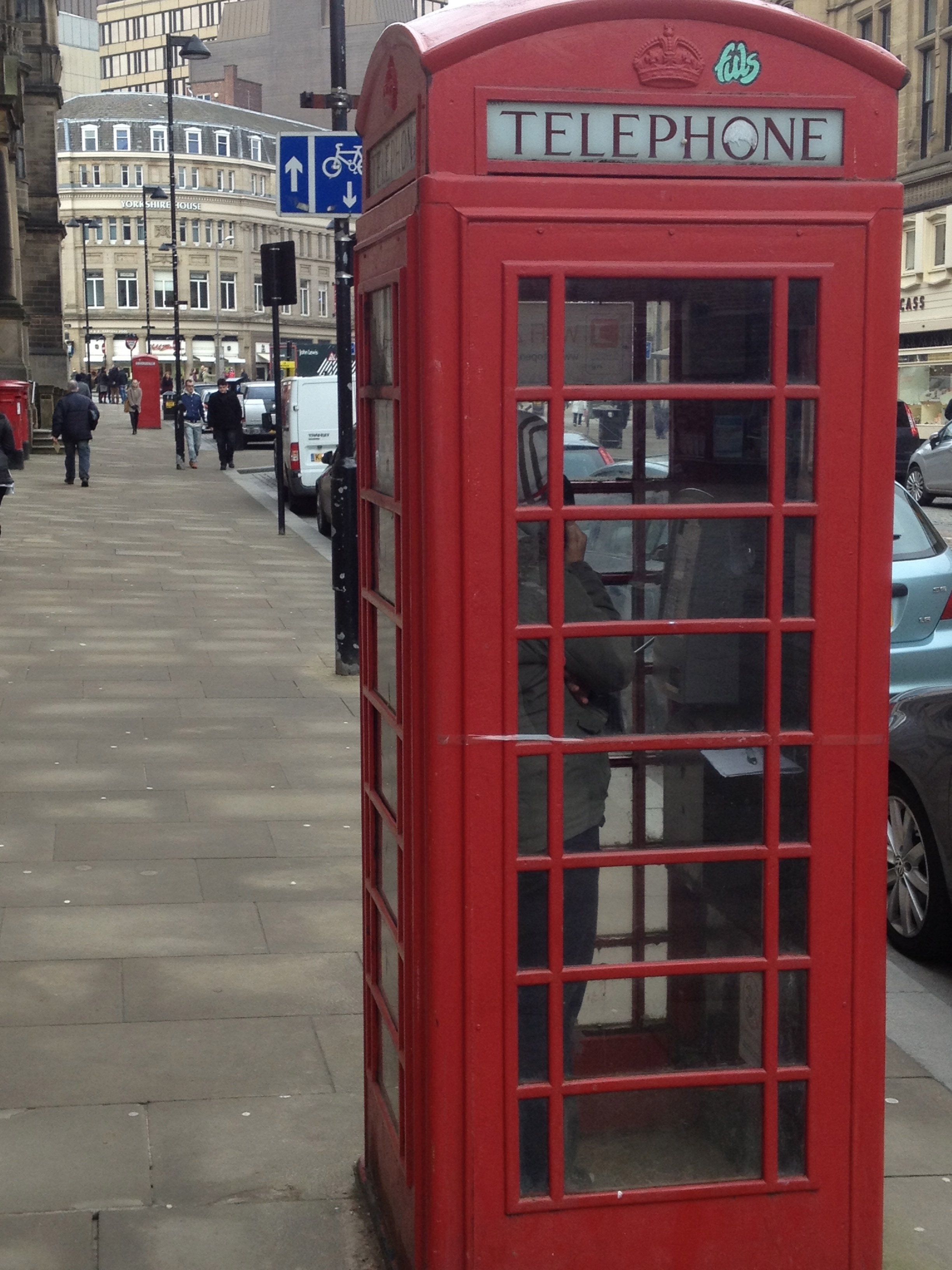 image of red phone booth